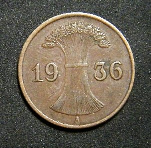 Germany 1 Pfennig 1936A