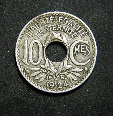 1924 France 10 Centimes   219572