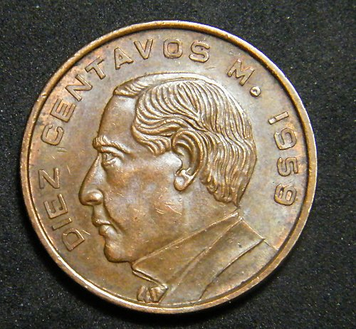 MEXICO 1959   TEN CENTAVOS ADDITIONAL COINS SHIP FREE