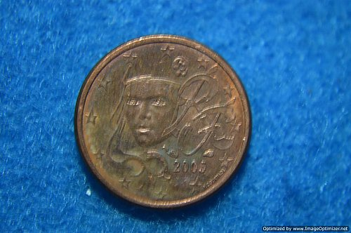 EURO 2005 ONE CENT 2.3G COPPER/STEEL