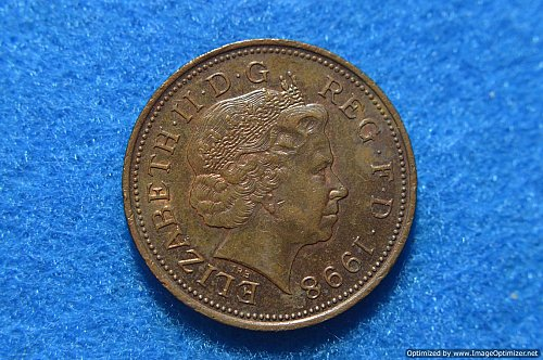 GREAT BRITAIN 1998 TWO PENCE 7.14G COPPER/STEEL