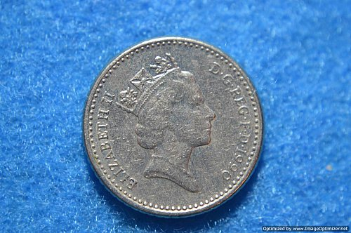 GREAT BRITAIN 1990 FIVE PENCE 3.25G COPPER/NICKEL