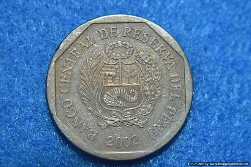 PERU 2002 50 CENTIMOS 5.45G COPPER/NICKEL/ZINC