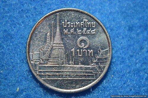 THAILAND 2001 1 BAHT 3.45G COPPER/NICKEL