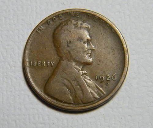 1926 D Lincoln Wheat Cent   219916 B19