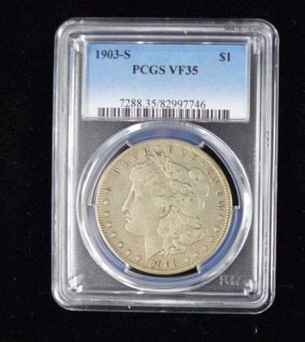 1903 S Morgan Dollar $1 Silver US Coin Currency - PCGS - VF35