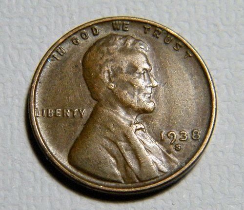 1938 S Lincoln Wheat Cent D29