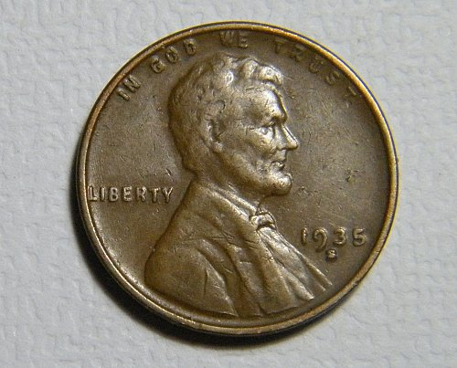 1935 S Lincoln Wheat Cent  B3