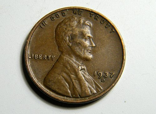 1937 D Lincoln Wheat Cent C1