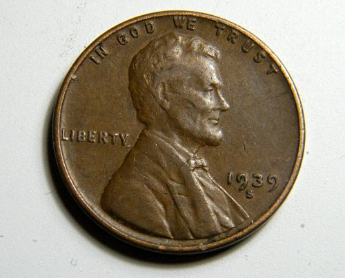 1939 S Lincoln Wheat Cent  C8