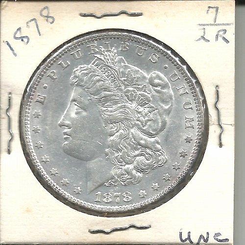 1878   MORGAN DOLLAR    PARALLEL  ARROW FEATHER