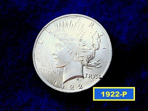 1922-P PEACE Dollar  ☆     (#5418)a