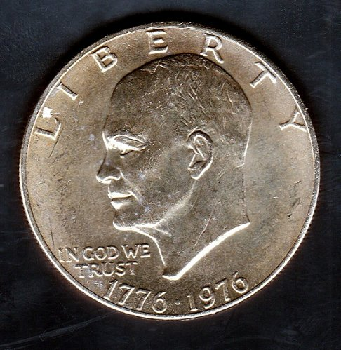 1976 P Eisenhower Dollars: Type 1 - Low Relief - Bold Lettering