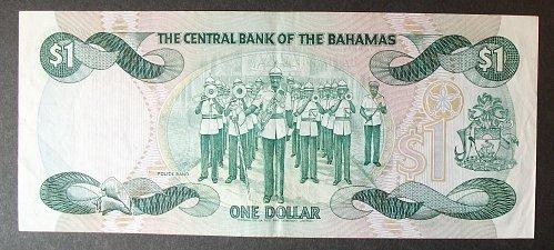Bahamas P43a Dollar VF