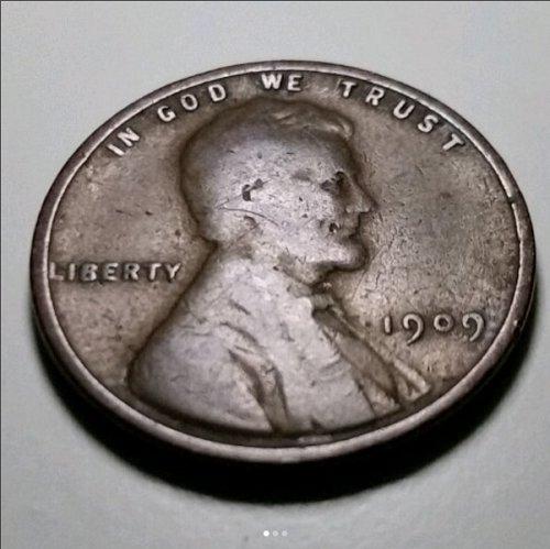 1909 P V.D.B. Wheat Penny