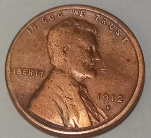 1912 S Lincoln Wheat Cent