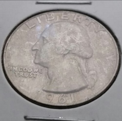 1961 D Silver Washington Quarter