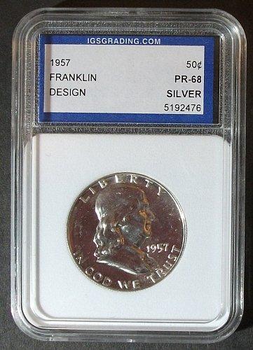 1957 Franklin Half Dollar ICG PR68