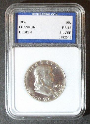 1962 Franklin Half Dollar IGS PR68