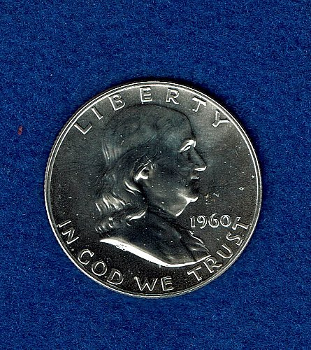 Franklin 1960  Proof Half Dollar