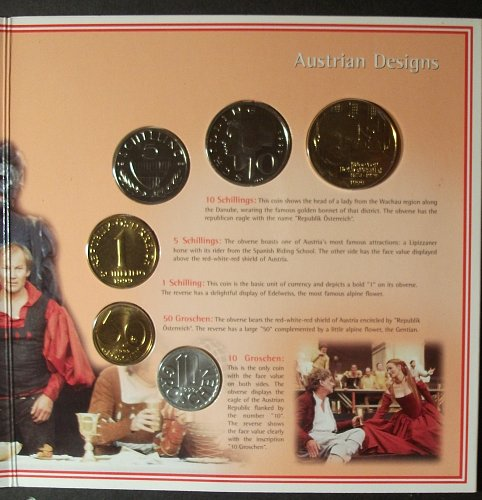 1999 Austria Mint Set Only 50,000 Produced