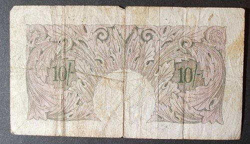 Great Britain P368a 10 Shillings VG