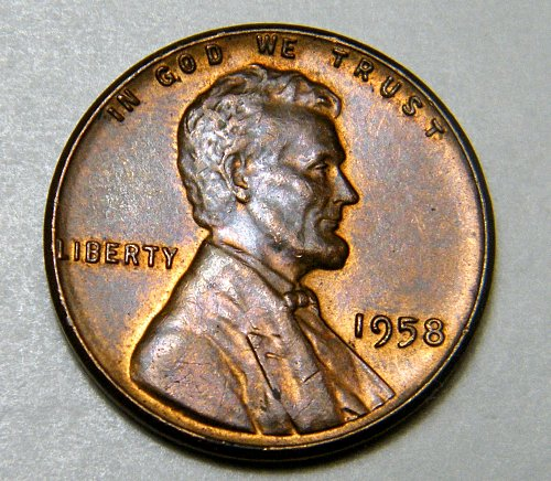 1958 P Lincoln Wheat Cent  M4