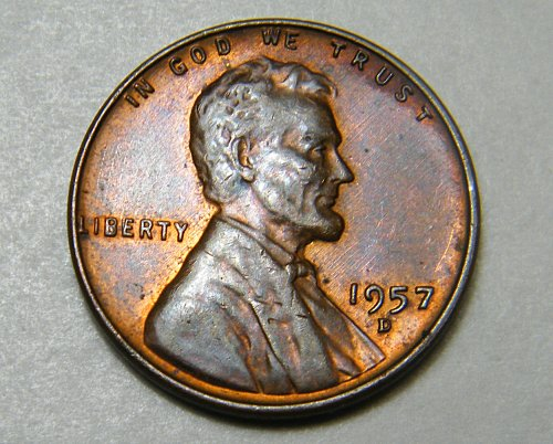 1957 D Lincoln Wheat Cent M5