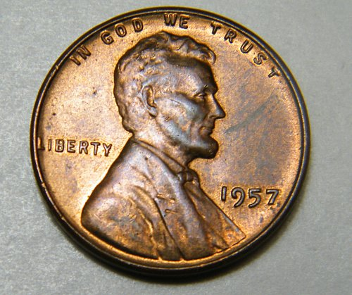 1957 P Lincoln Wheat Cent m9