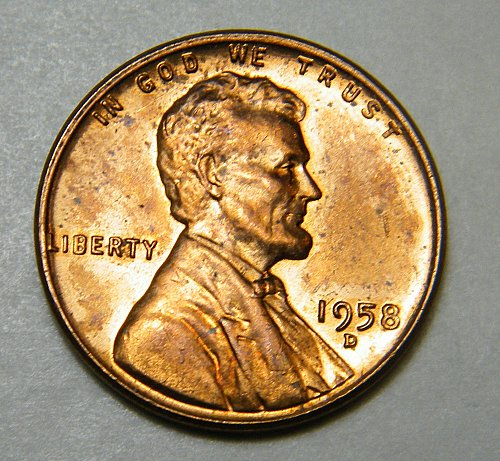 1958 D Lincoln Wheat Cent  m11