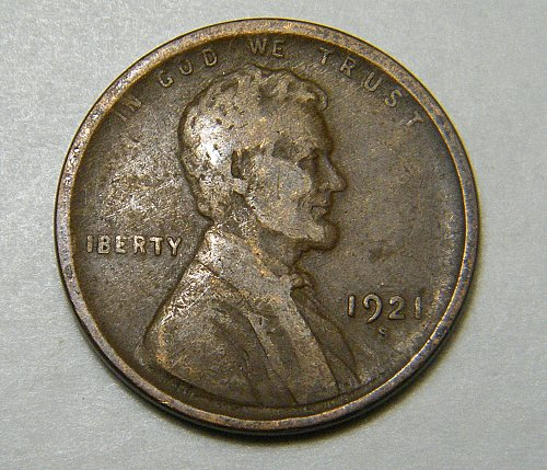 1921 S Lincoln Wheat Cent m25