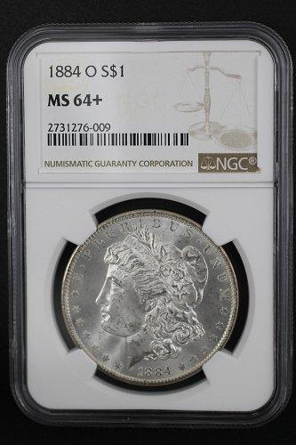1884 O MORGAN DOLLAR - MS64+