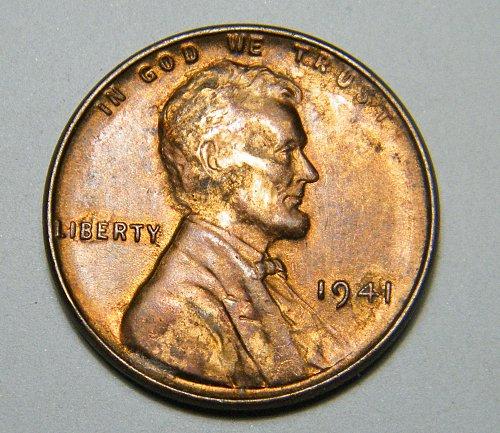 1941 P Lincoln Wheat Cent L25