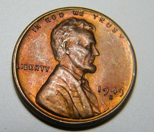 1949 S Lincoln Wheat Cent  L27