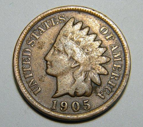 1905 P Indian Head Cent C9