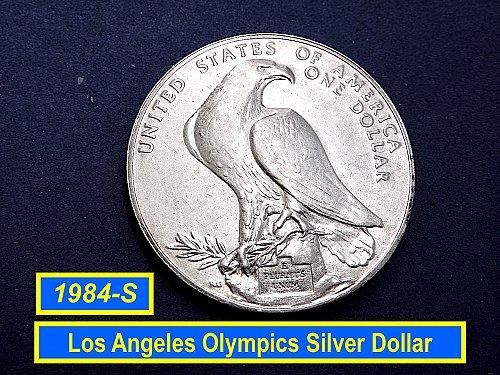 1984-S SILVER DOLLAR ☆ LOS ANGELES OLYMPICS  (#5521)a