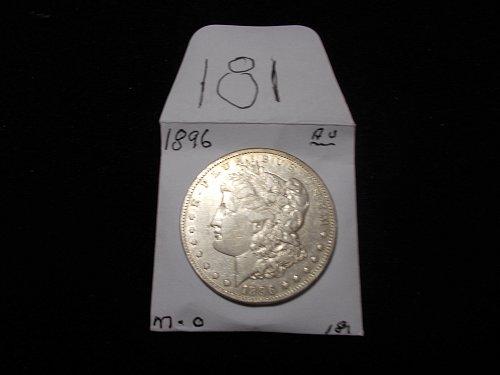 1896    O MORGAN 90% SILVER DOLLAR     A  / U  # 181