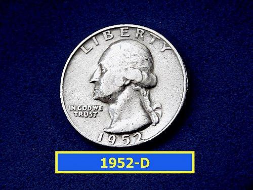 "1952-D Washington Quarters ✬ ""Circulated"" ✬ (#2902)a"
