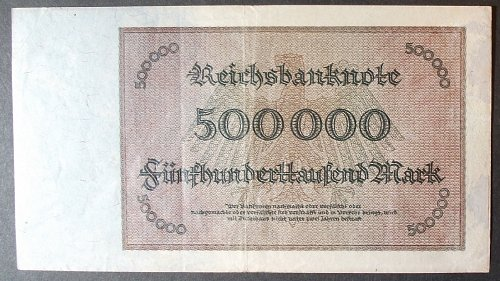 Germany P88b 500,00 Mark VF