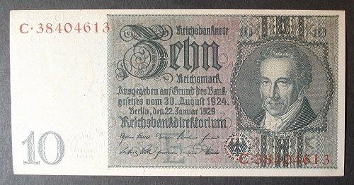 Germany P180a 10 Reichsmark XF