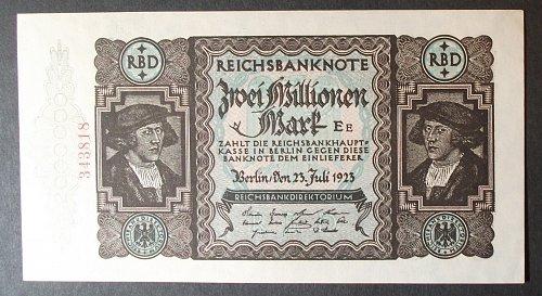Germany P89a 2,000,000 Mark AU