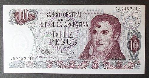 Argentina P289 10 Pesos UNC63