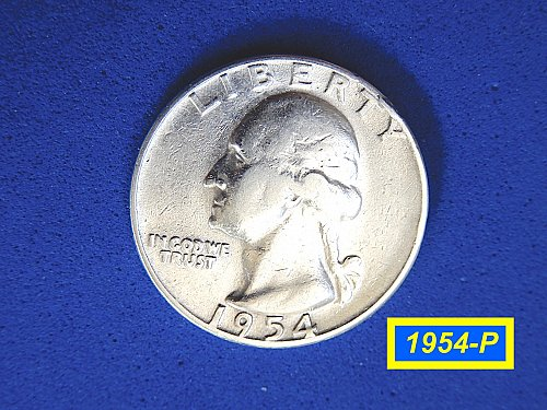 "1954-P Washington Quarter ✬ ""Circulated"" ✬ (#2898)a"