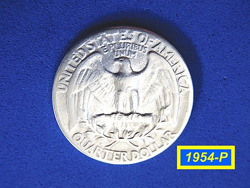 "1954-P Washington Quarter ✬ ""Circulated"" ✬ (#2898)a"