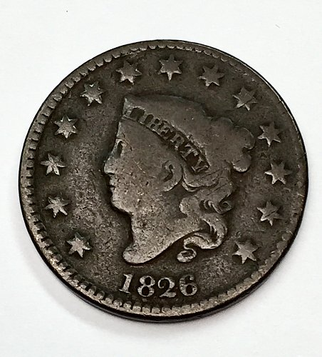1826 Large Cent - Normal Date