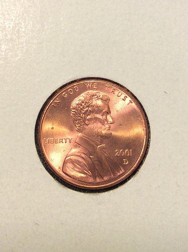 2001 D Lincoln Cent