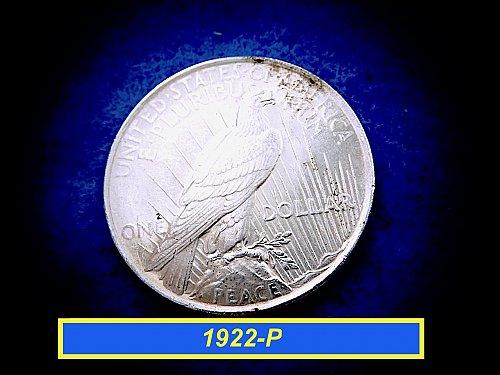 1922-P PEACE Dollar  ☆ 90% Silver     (#5426)a