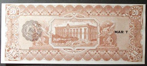 Mexico/Chihuahua S537b Peso UNC62