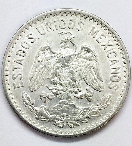 1917 Mexico 50 Centavos - .800 Silver