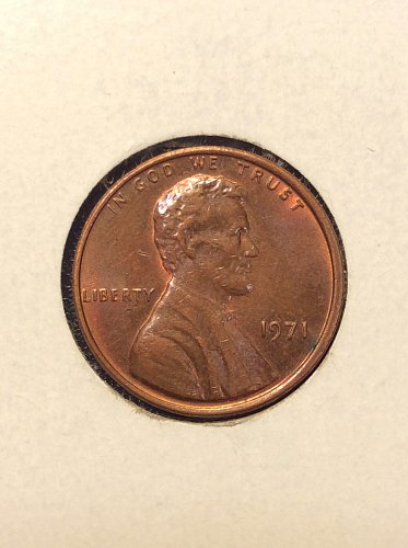 1971 P Lincoln Cent
